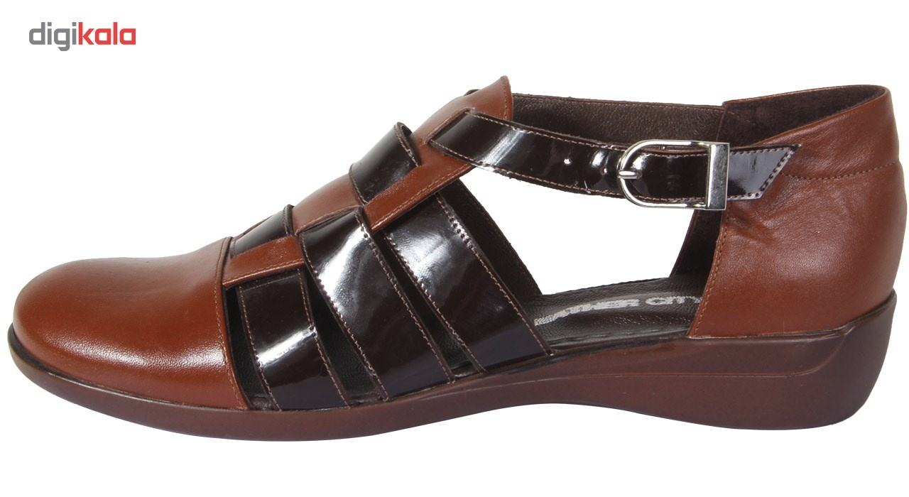 کفش چرم زنانه شهر چرم مدل 66-39236 -  - 2