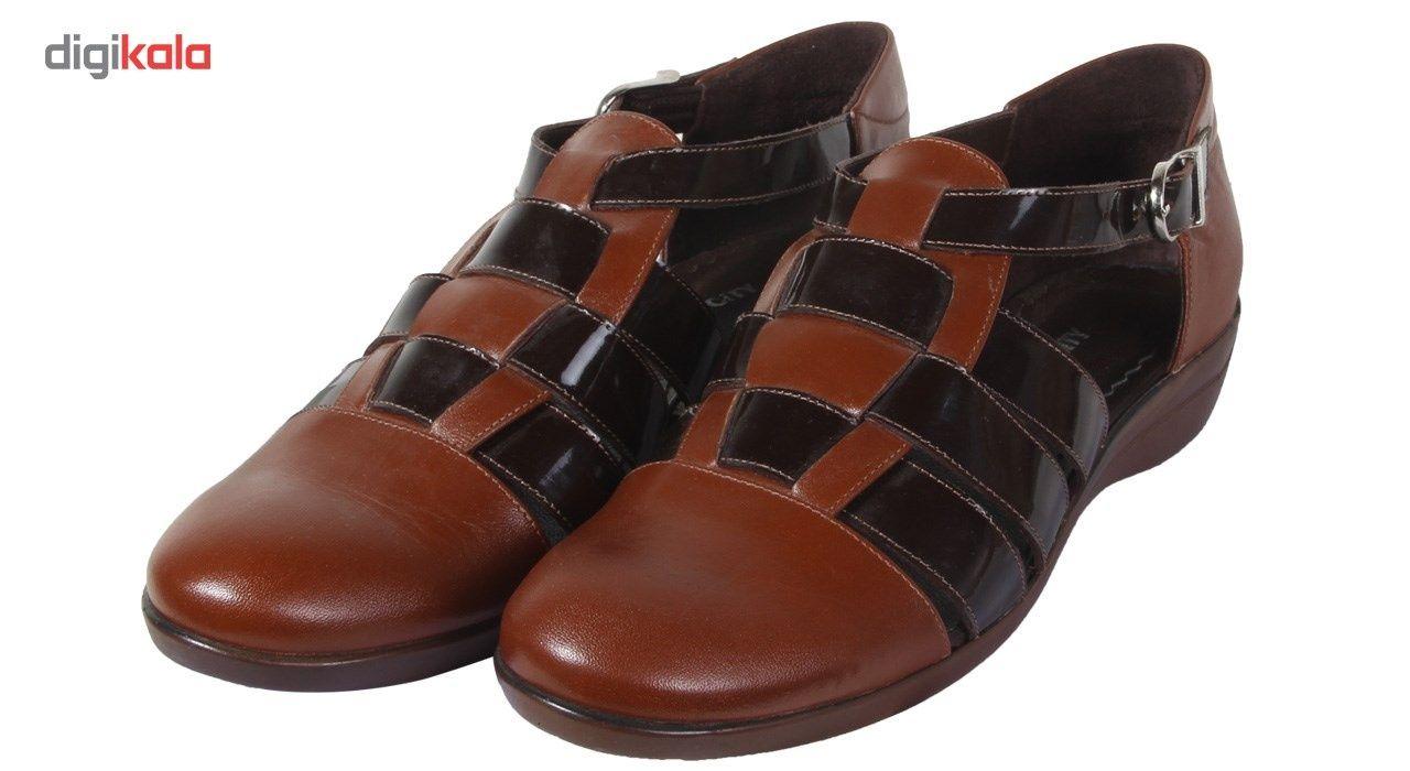 کفش چرم زنانه شهر چرم مدل 66-39236 -  - 4