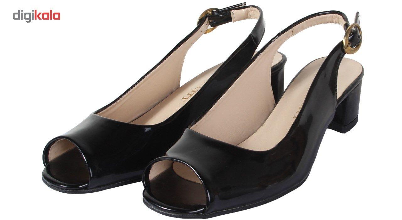 کفش چرم زنانه  شهرچرم مدل 1-885 -  - 4
