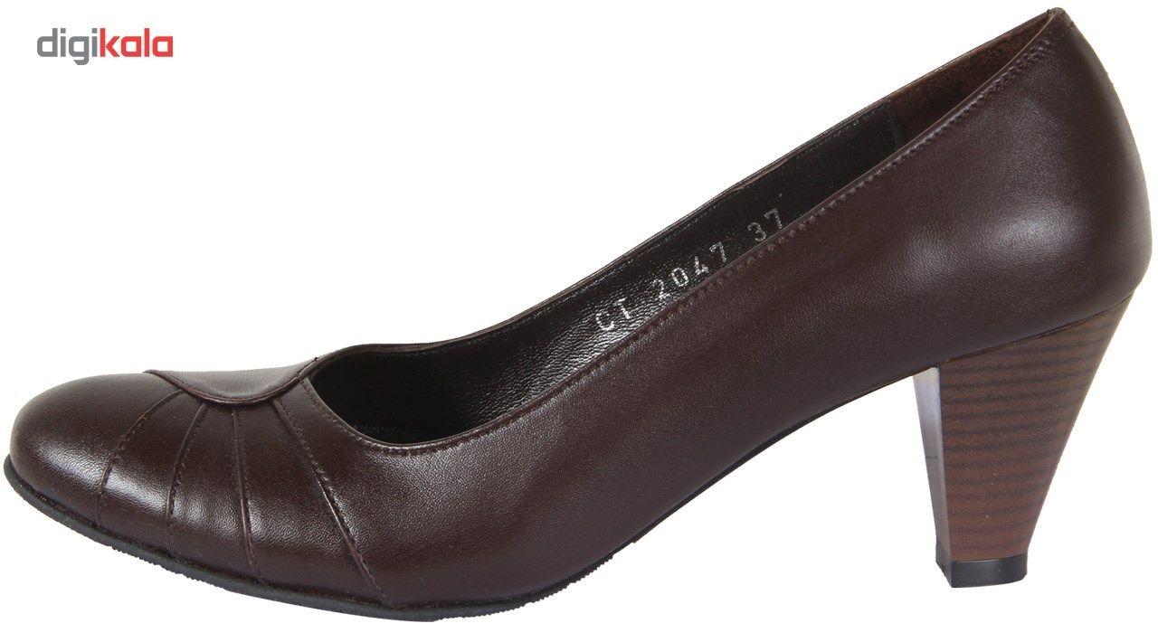کفش چرم زنانه  شهرچرم مدل 3-39222 -  - 2