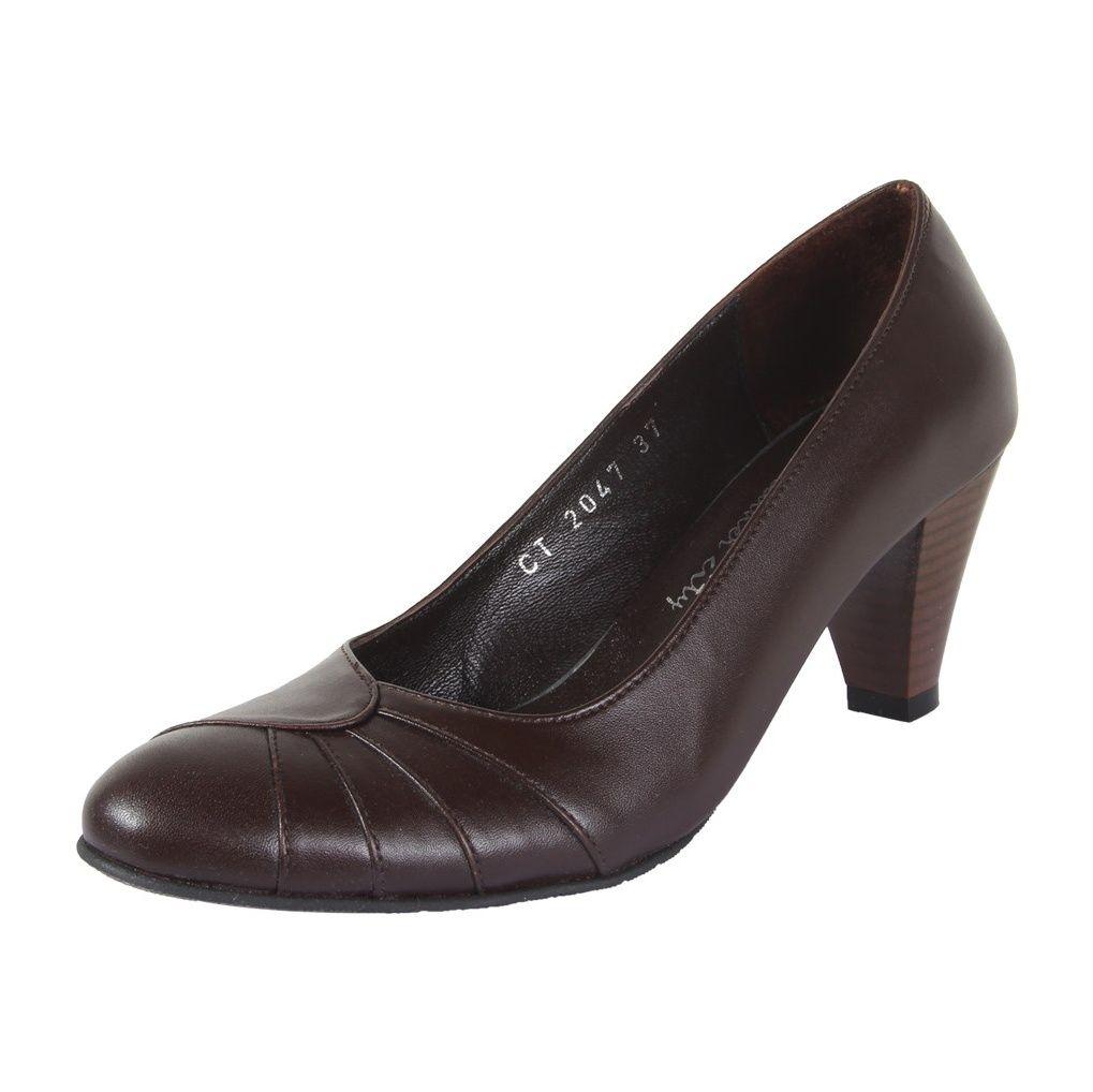 کفش چرم زنانه  شهرچرم مدل 3-39222 -  - 3
