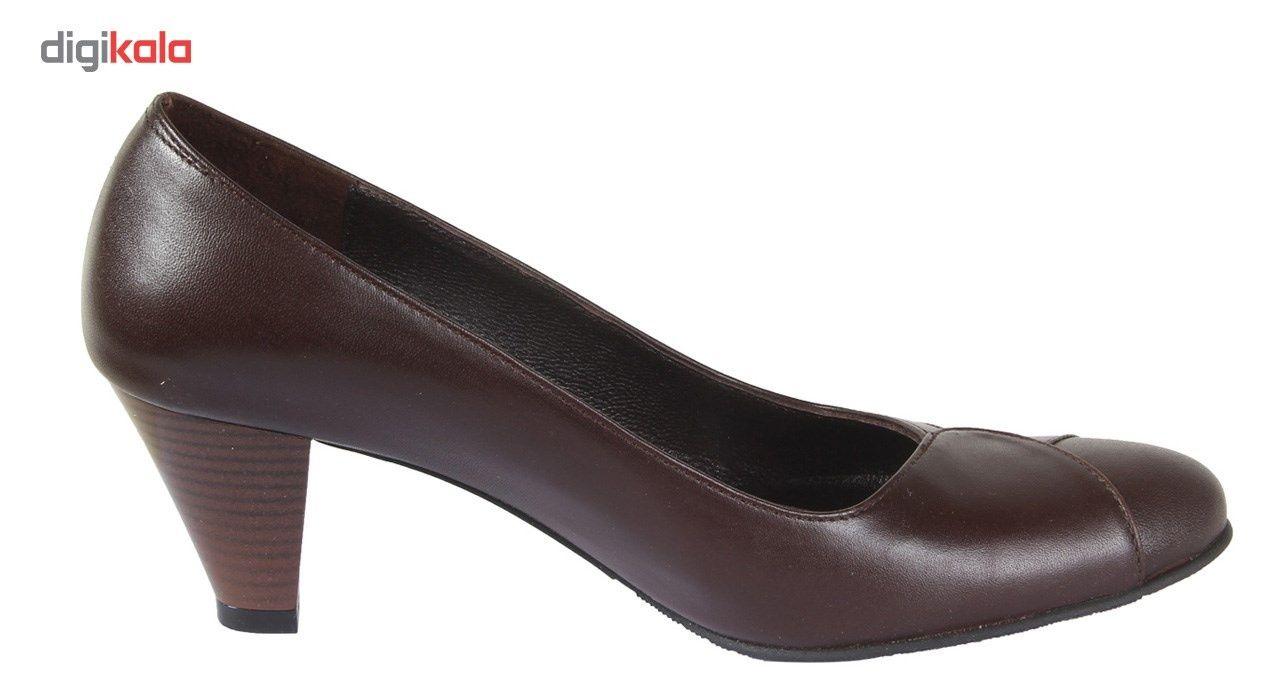 کفش چرم زنانه  شهرچرم مدل 3-39222 -  - 5