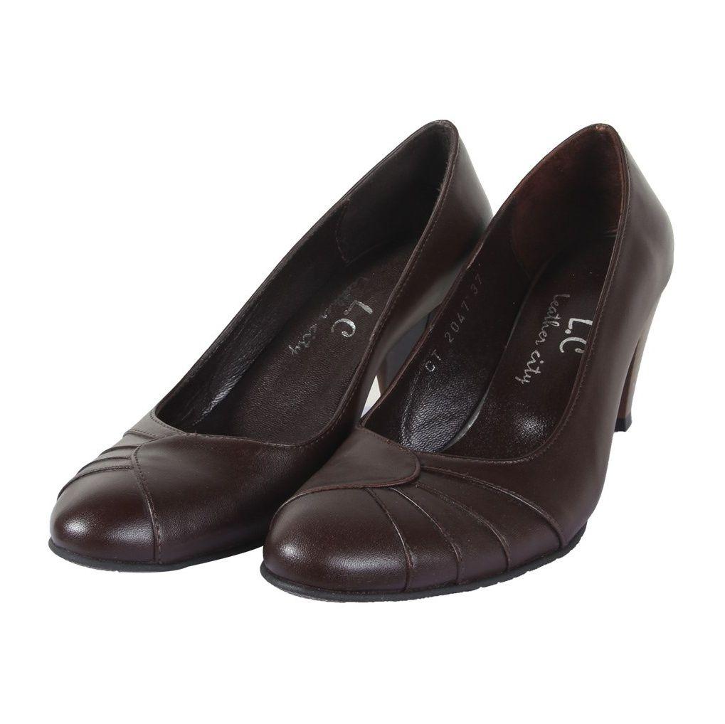 کفش چرم زنانه  شهرچرم مدل 3-39222 -  - 6