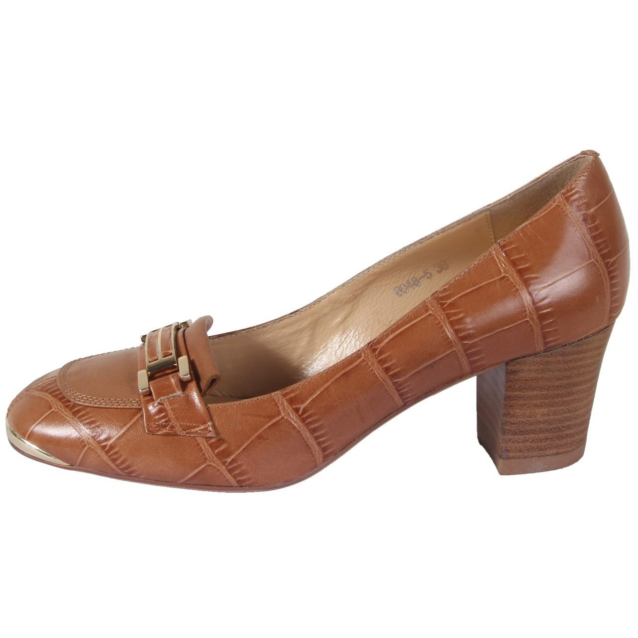 کفش چرم زنانه شهر چرم مدل 6-5-6948