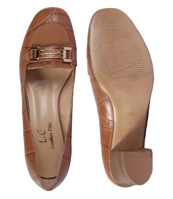 کفش چرم زنانه شهر چرم مدل 6-5-6948 -  - 6