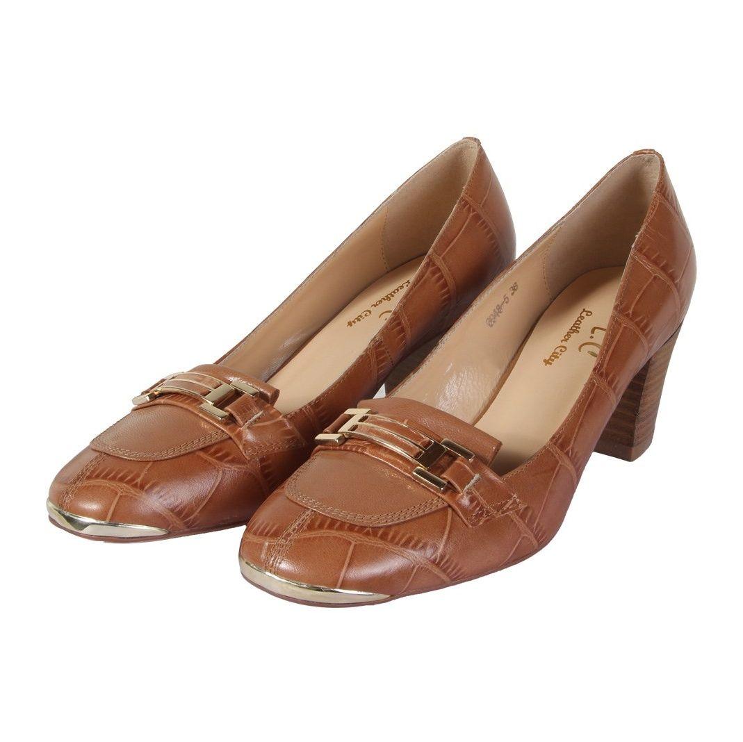 کفش چرم زنانه شهر چرم مدل 6-5-6948 -  - 4