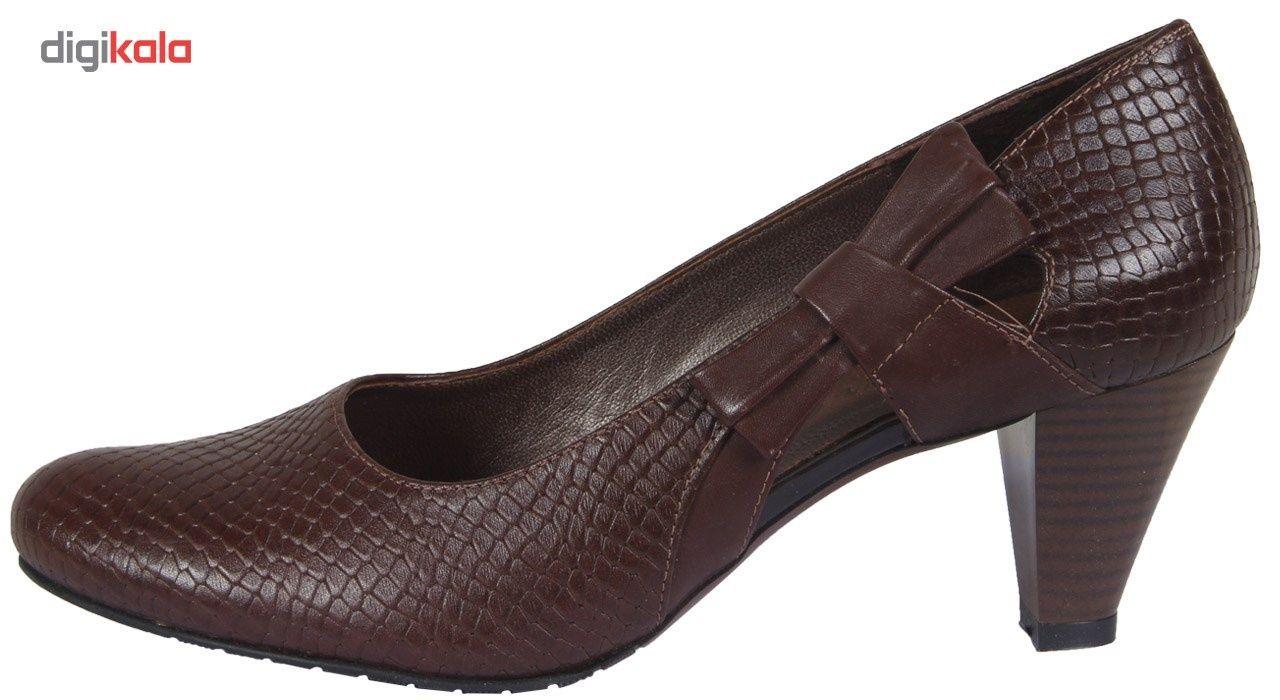 کفش چرم زنانه  شهرچرم مدل 3-39101 -  - 2