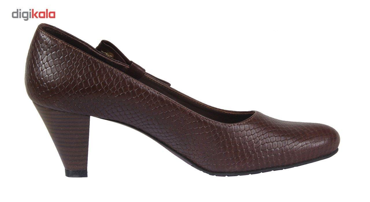 کفش چرم زنانه  شهرچرم مدل 3-39101 -  - 5