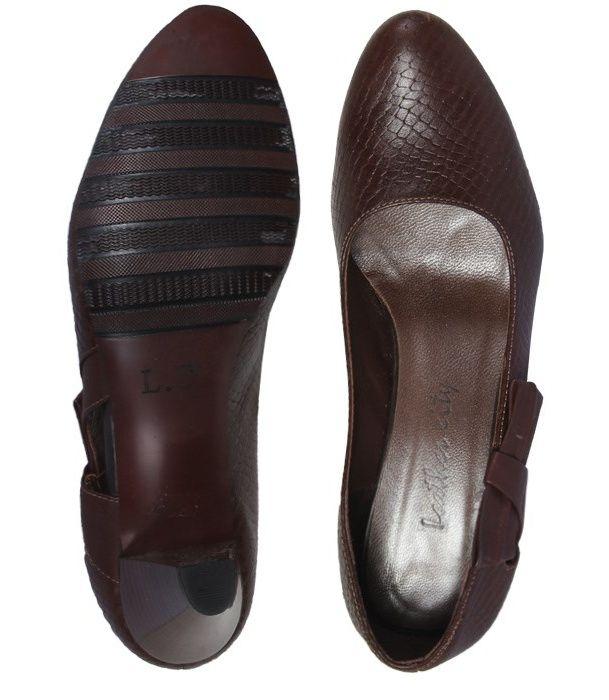 کفش چرم زنانه  شهرچرم مدل 3-39101 -  - 6