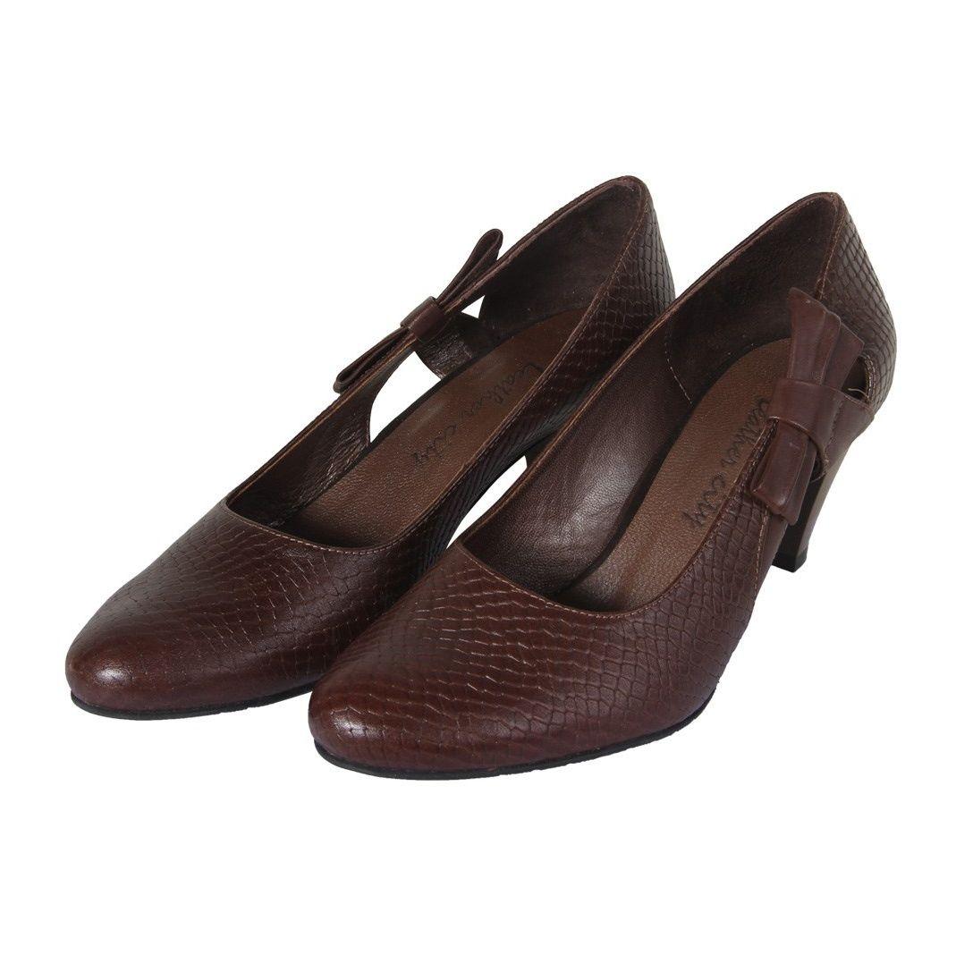 کفش چرم زنانه  شهرچرم مدل 3-39101 -  - 4
