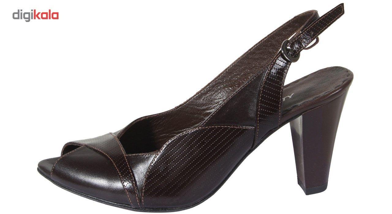 کفش چرم زنانه  شهرچرم مدل 3-39233 -  - 2
