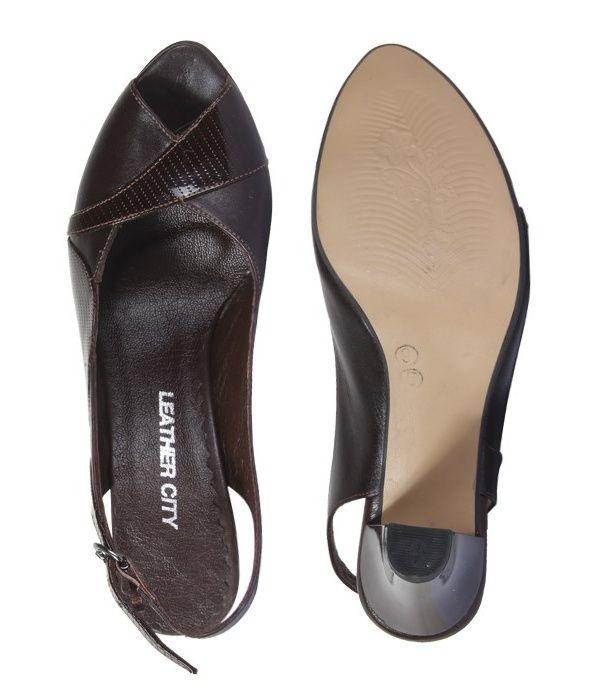 کفش چرم زنانه  شهرچرم مدل 3-39233 -  - 6