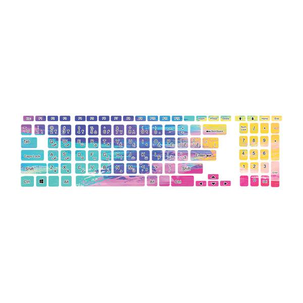 برچسب حروف فارسی کیبورد طرح colorful کد 32