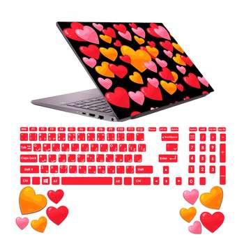استیکر لپ تاپ صالسو آرت مدل 5005 hk به همراه برچسب حروف فارسی کیبورد