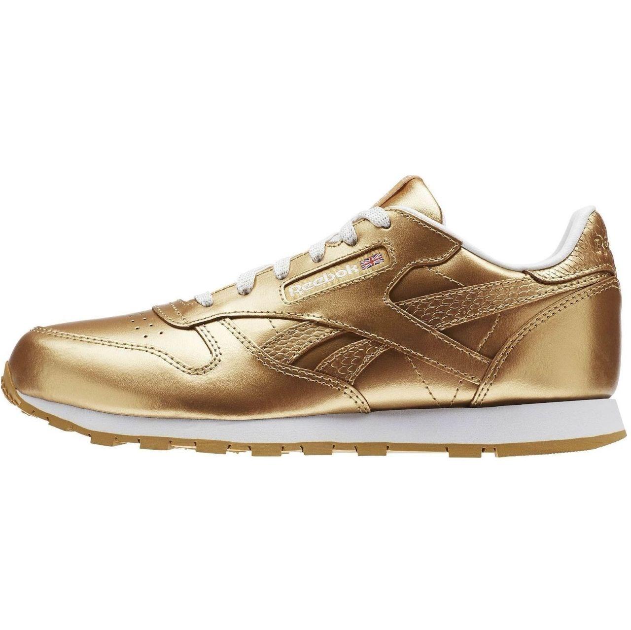 کفش راحتی زنانه ریباک مدل  Classic Leather Metallic