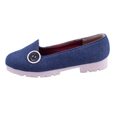 تصویر کفش زنانه جین مدل لبخند کد 2091