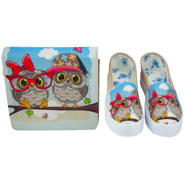ست کیف و کفش مدل جغد owl