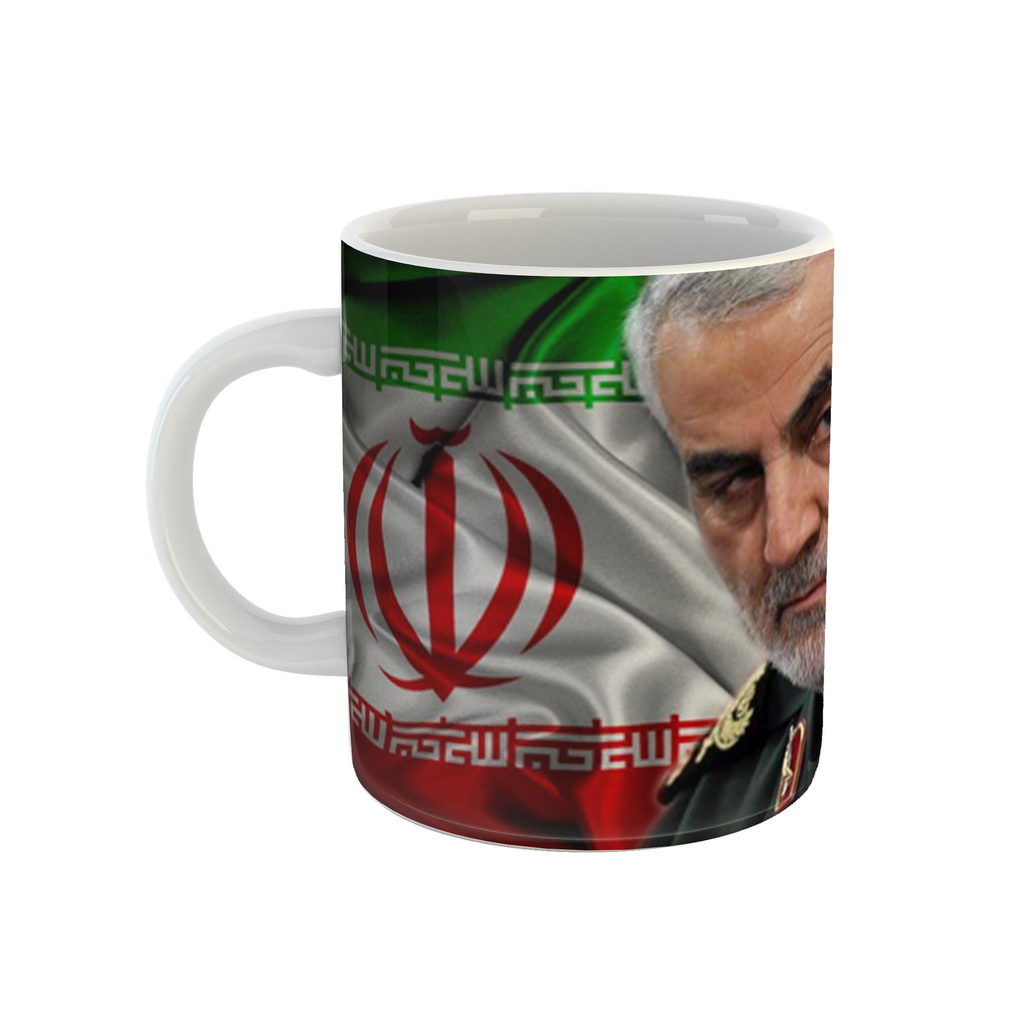 ماگ طرح حاج قاسم سلیمانی مدل ایران