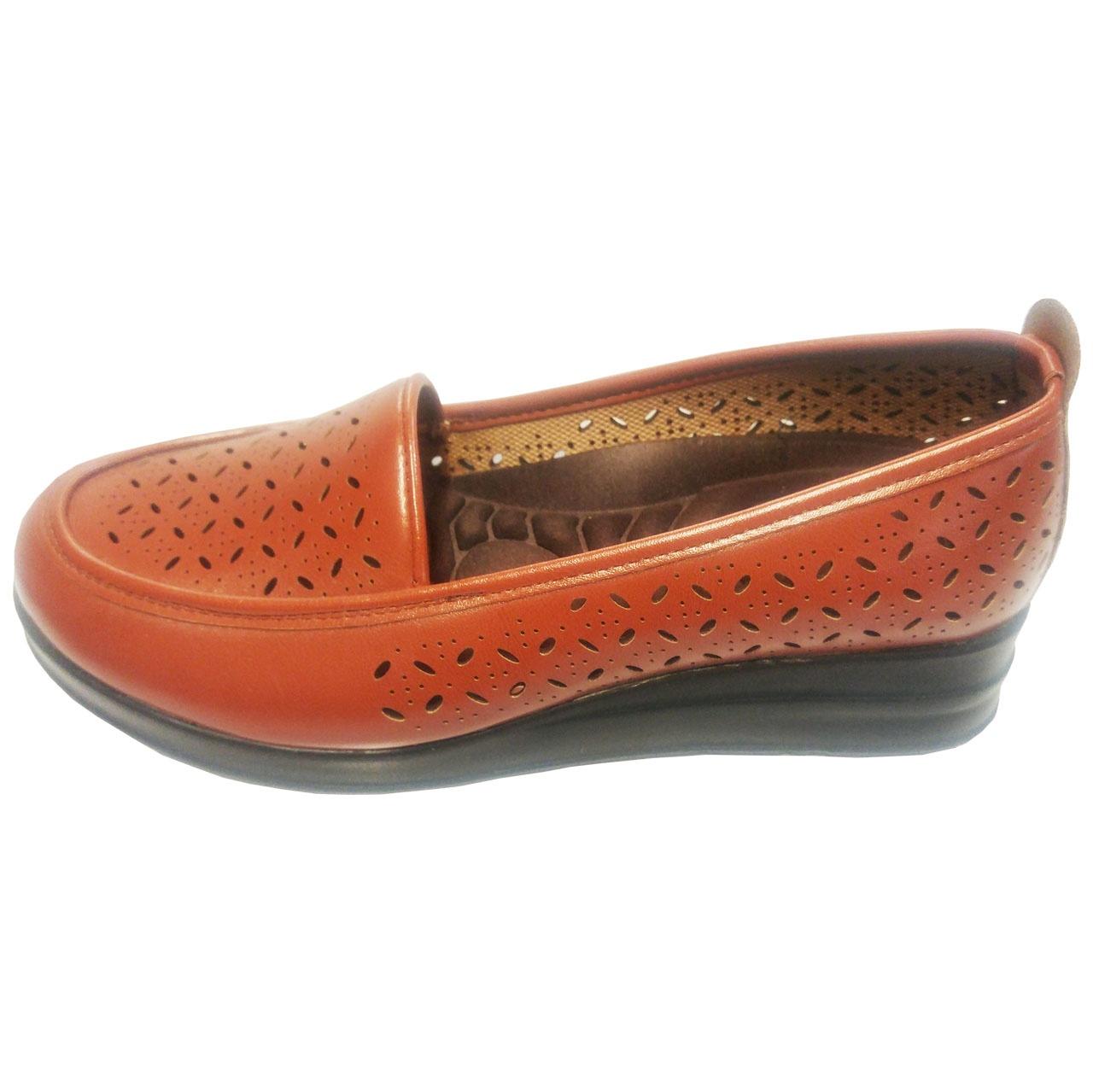 کفش زنانه آبرنگ مدل لیزری کد 009