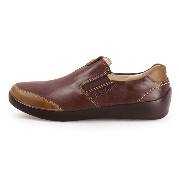 کفش زنانه چرم طبیعی پاندورا مدل w899 قهوه ای