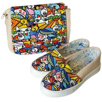 ست کیف و کفش روشا مدل Cubism