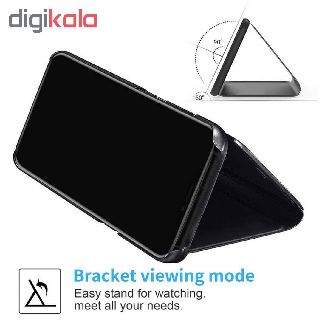 کیف کلاسوری مدل Clear View Standing مناسب برای گوشی موبایل سامسونگ Galaxy A20s