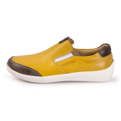 تصویر کفش زنانه چرم طبیعی پاندورا مدل w899 زرد