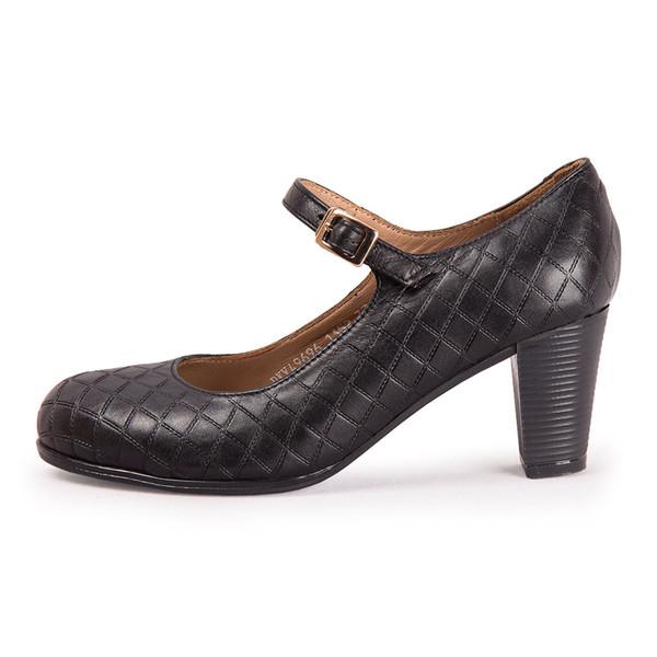 کفش زنانه چرم طبیعی پاندورا مدل w1352 مشکی