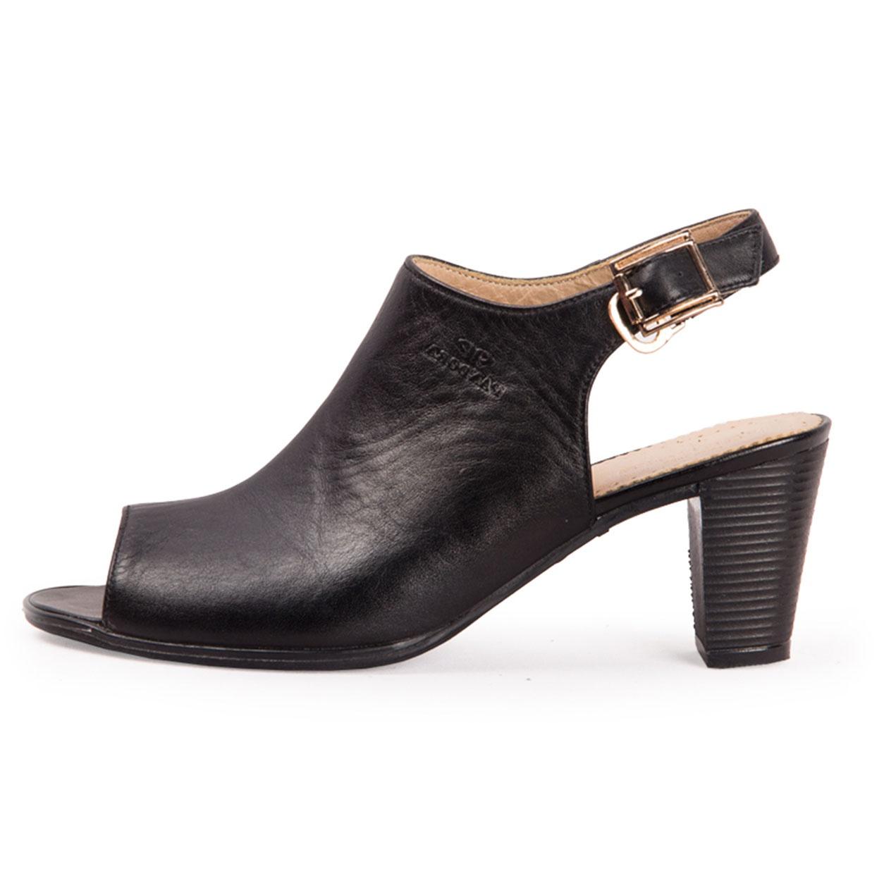 کفش زنانه چرم طبیعی پاندورا مدل w1361 مشکی