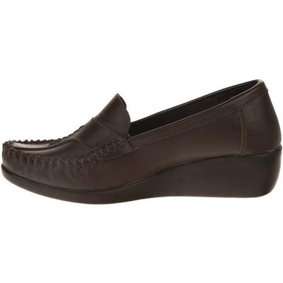 تصویر کفش چرم طبی زنانه آفتاب قهوه ای مدل001