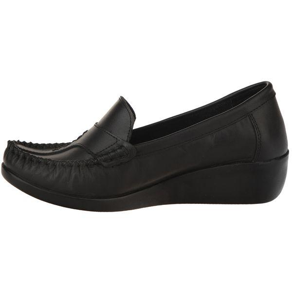 کفش چرم زنانه آفتاب مشکی مدل 003