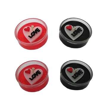 شمع وارمر طرح قلب مدل love کد 01 بسته 4 عددی