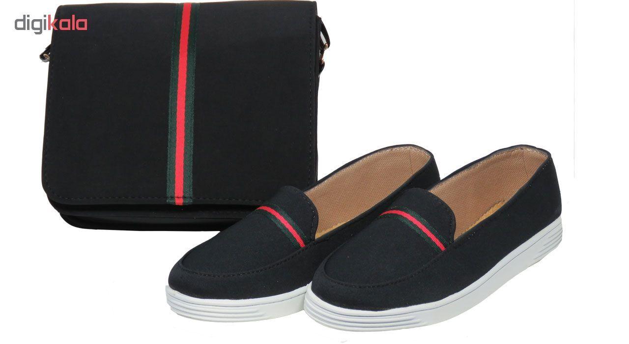 ست کیف و کفش زنانه پرین طرح گوچی کد PR801 main 1 1