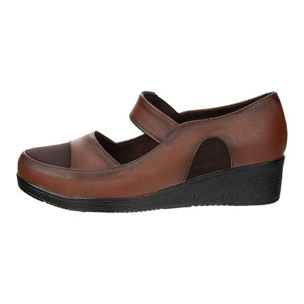 کفش زنانه سینا مدل آیدا عسلی کد 17