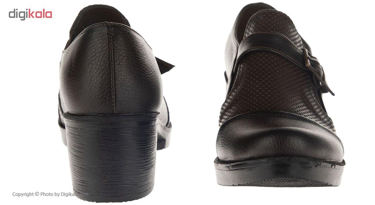 کفش طبی نه سینا مدل بنفشه قهوای کد20