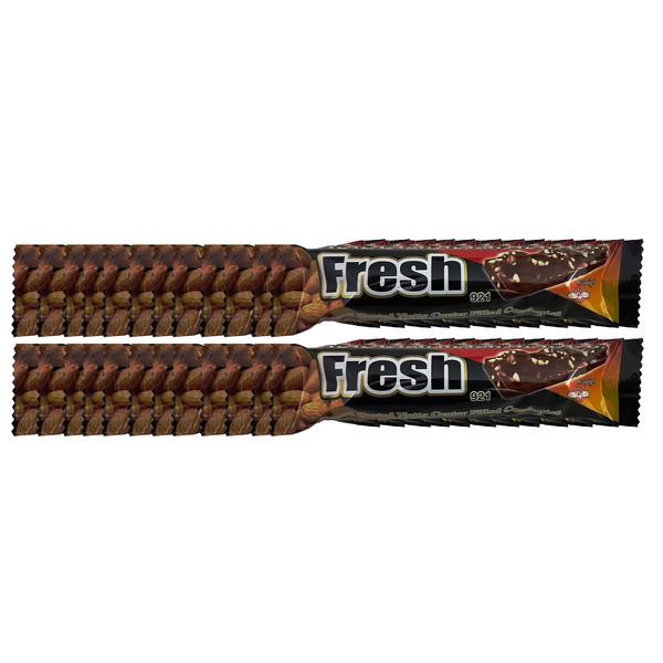 ویفر شکلاتی با مغز بادام شیرین تک - 20 گرم بسته 24 عددی