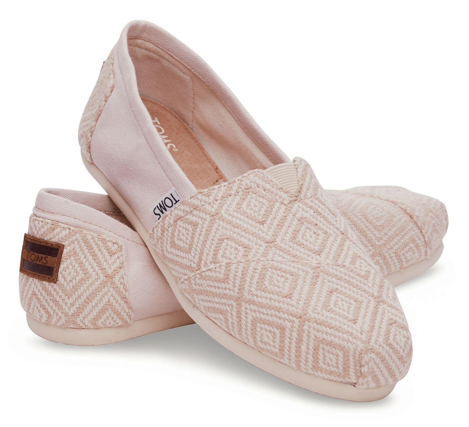 کفش تخت نخی زنانه - تامز - کرم روشن بافت دار - 3