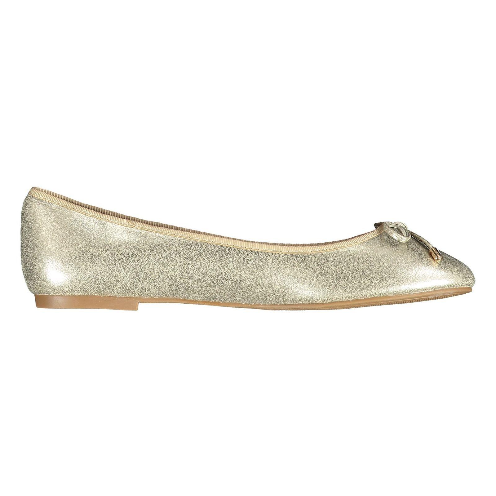 کفش تخت زنانه - پارفوا - طلايي روشن - 1