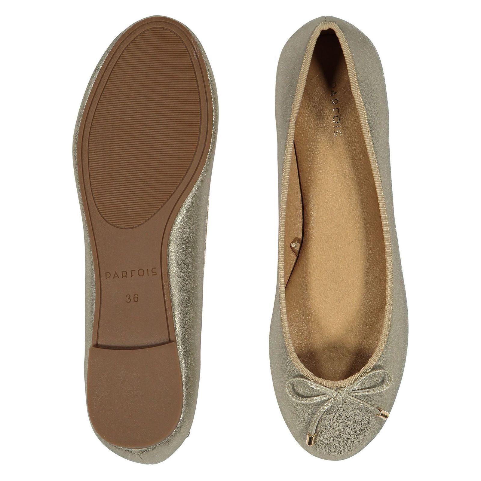 کفش تخت زنانه - پارفوا - طلايي روشن - 2