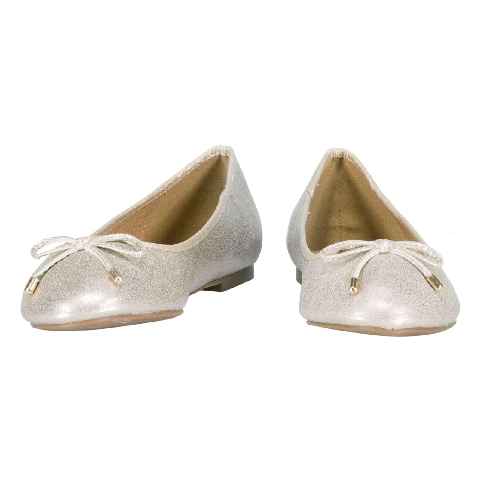 کفش تخت زنانه - پارفوا - طلايي روشن - 4
