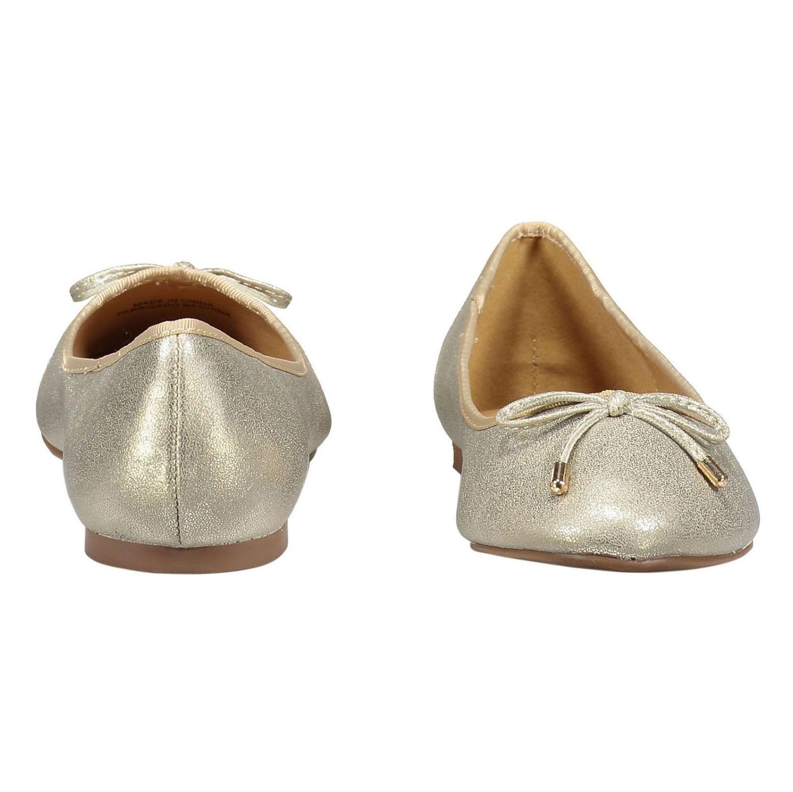 کفش تخت زنانه - پارفوا - طلايي روشن - 5