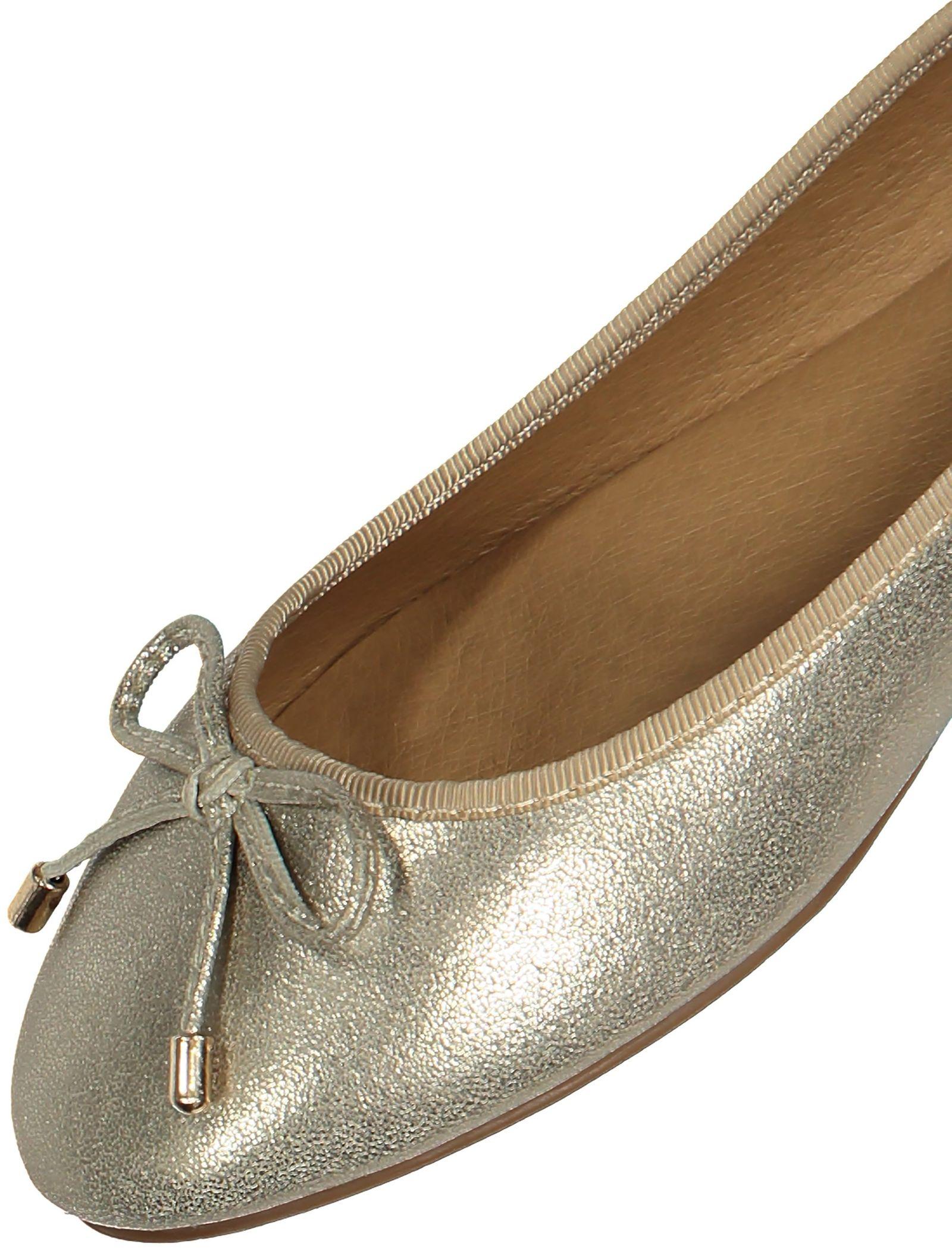 کفش تخت زنانه - پارفوا - طلايي روشن - 6