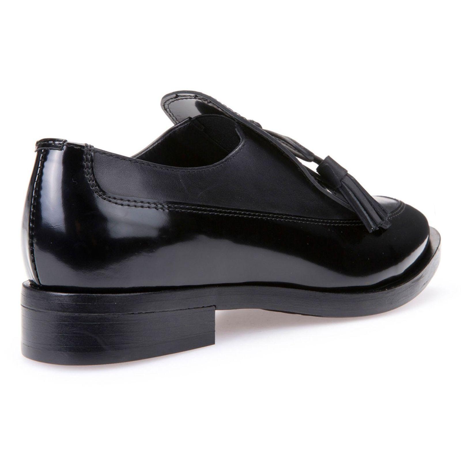 کفش تخت چرم زنانه - جی اوکس - مشکي - 6