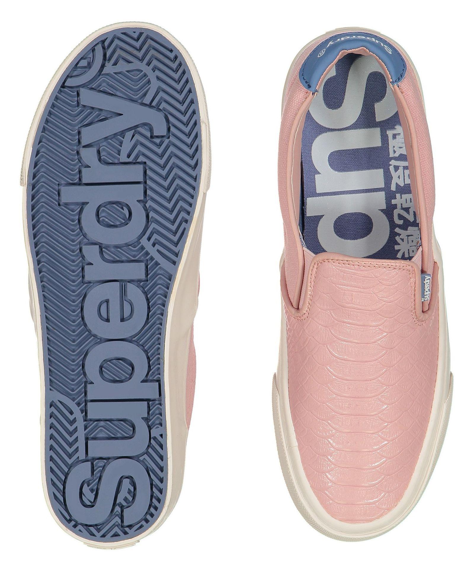 کفش تخت زنانه - سوپردرای - صورتي پيتون - 2