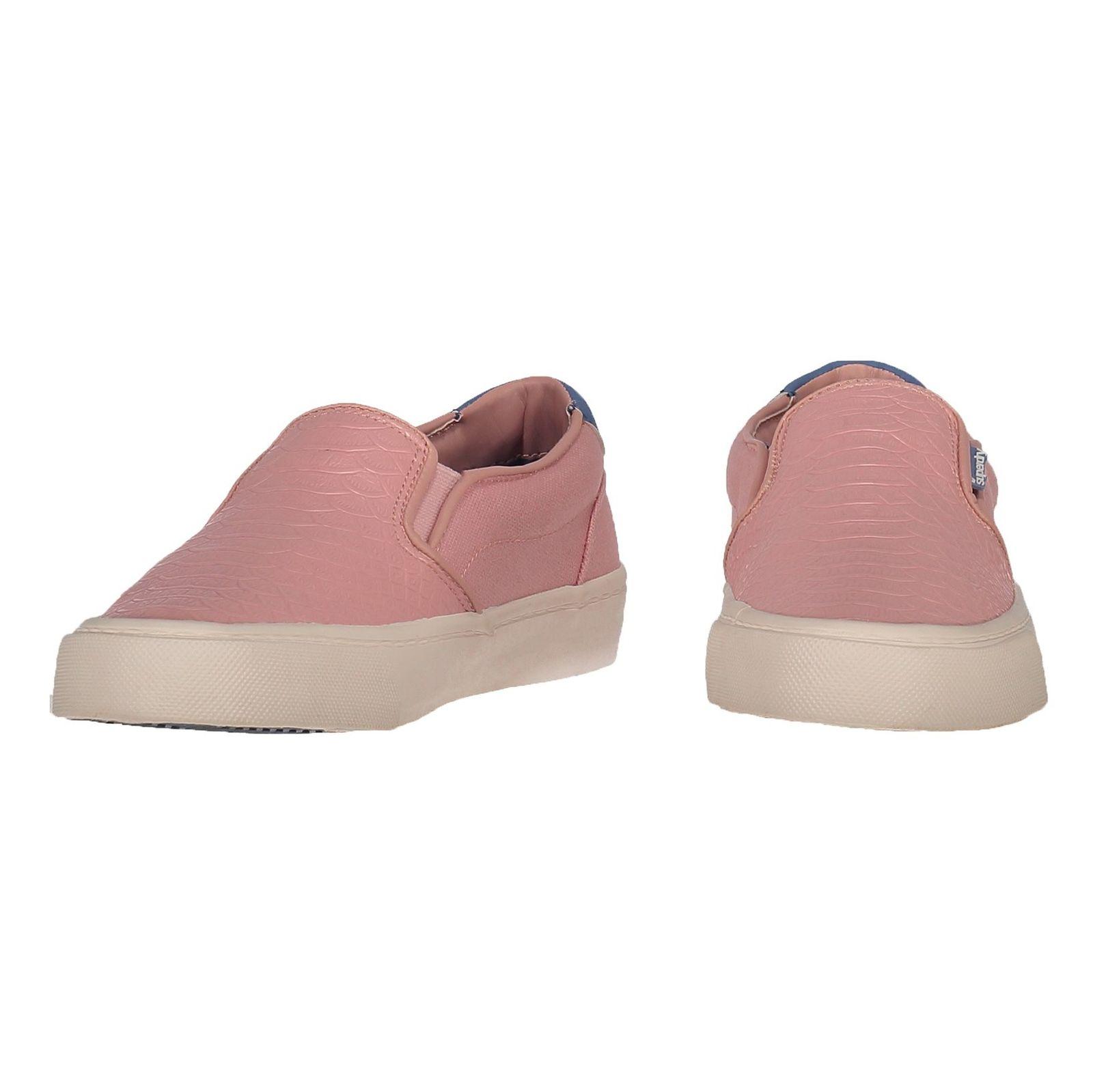 کفش تخت زنانه - سوپردرای - صورتي پيتون - 4