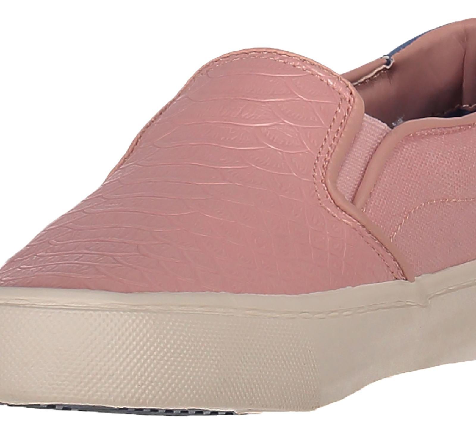 کفش تخت زنانه - سوپردرای - صورتي پيتون - 6