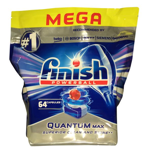 قرص ماشین ظرفشویی فینیش مدل Quantum mega Max بسته 64 عددی