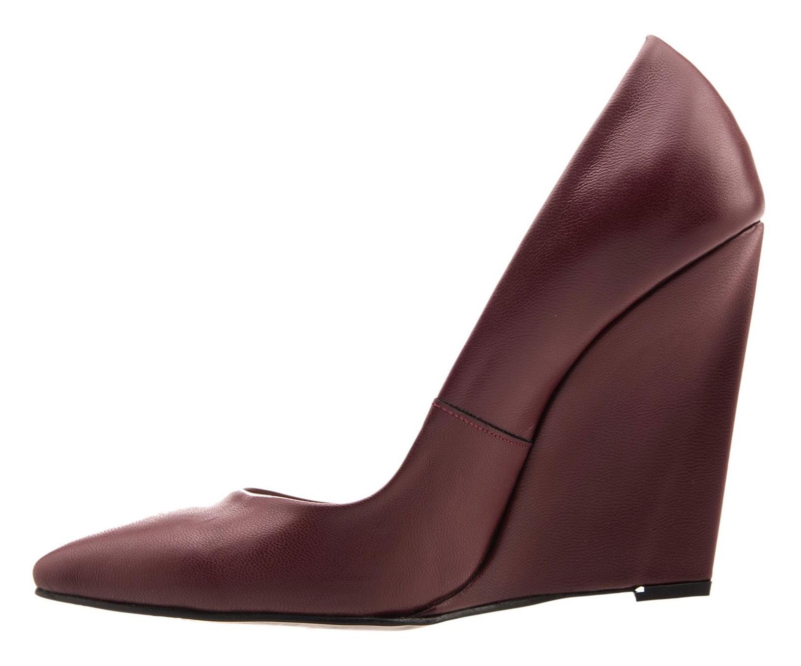 کفش پاشنه بلند چرم زنانه - شهر چرم - شاه بلوطي - 2