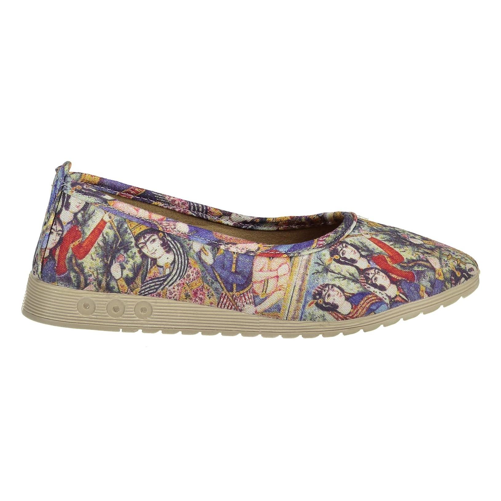 تصویر کفش تخت پارچه ای زنانه – گالری آرتمیس