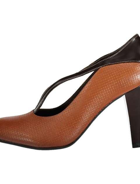 کفش پاشنه بلند چرم زنانه - شهر چرم